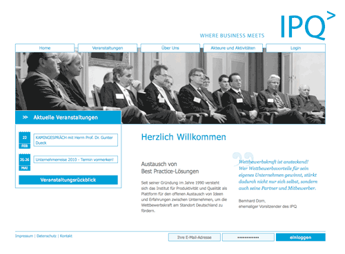 Website des IPQ e.V.
